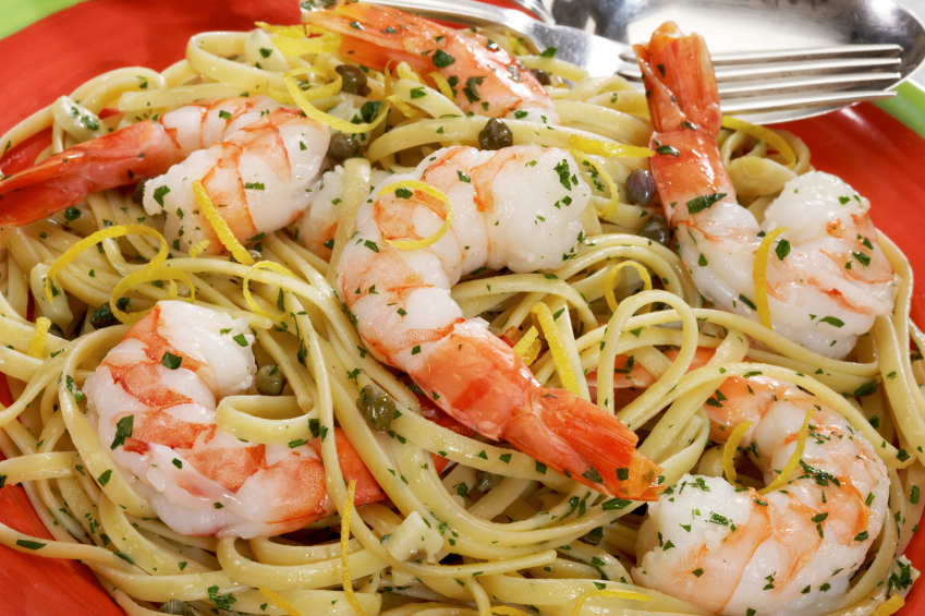 KITCHEN QUICKIES – Linguini with shrimp | Table Talk At Larry's