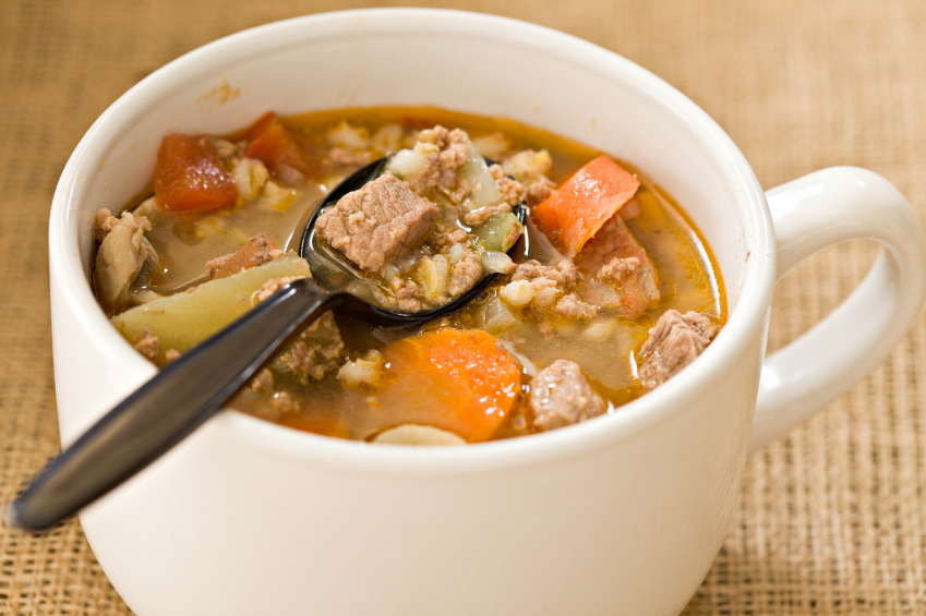 COMFORT FOOD ON CHILLED NIGHTS / Beef, Barley and Mushroom Soup from ...