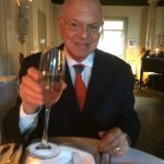 Barry Wellman drinking champaign