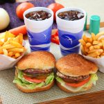 Fast food burger tray